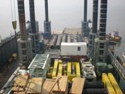 A look down over the Maharani Jack-Up Platform