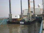 Loading almost complete: Maharani Jack-Up Platform being loaded by float on method