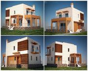 Small suburban house near sea