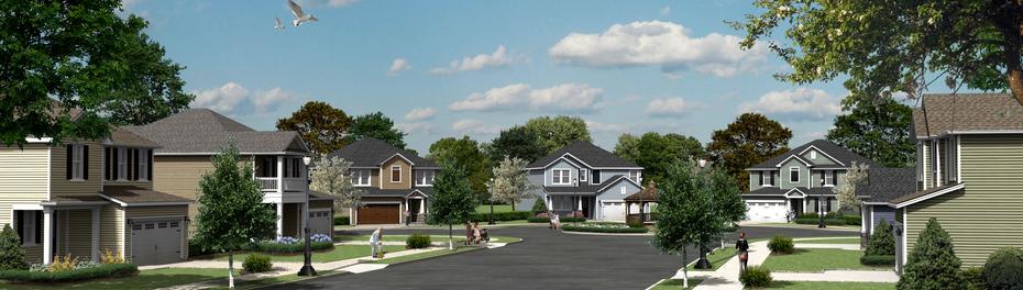 Single Family Home Streetscape