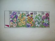flower stamps colored pencil