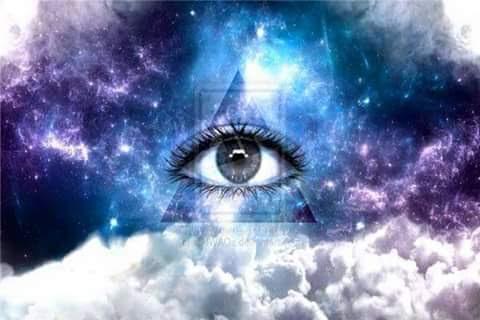 Eye, Pyramid, Clouds & Space...