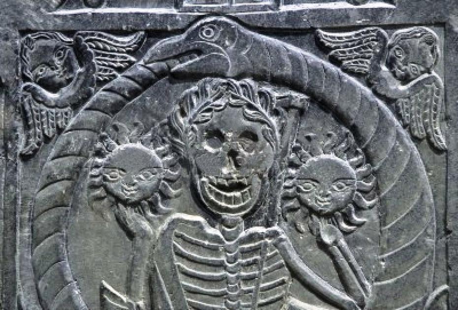 Ophidian gravestone