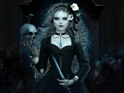 DARK WICCA WITH SKULL Wallpaper__yvt2