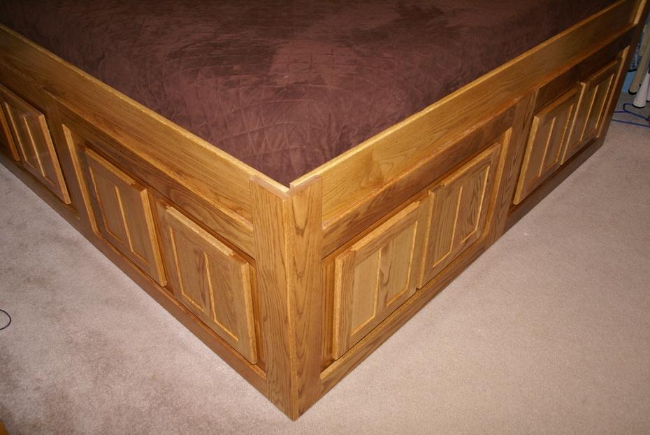 Platform storage bed 12