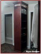 Dark Mahogany on Cherry Closet 02