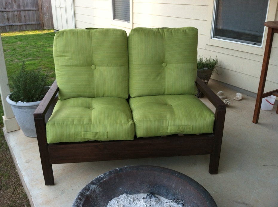 Finished Love Seat