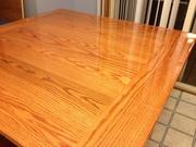 table top glaze coated