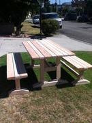 Trestle Style Picnic Table