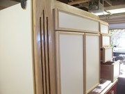 Melamine and Red Oak Kitchen Cabinets