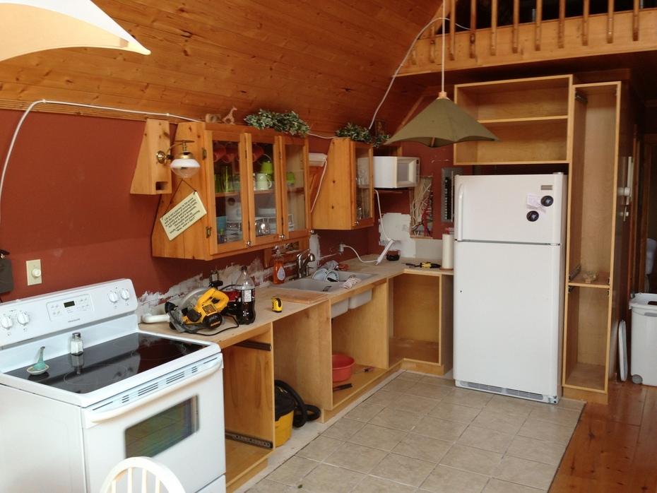 Cabinets taking shape