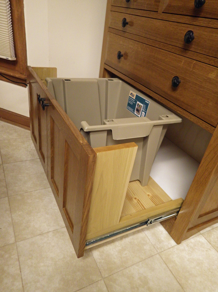 Roll Top Cabinet drawer