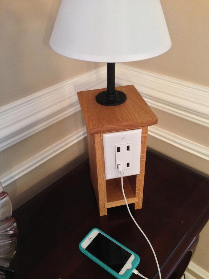 Phone charging lamp version 2