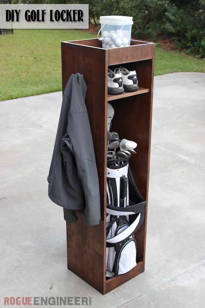 DIY Golf Bag Locker | Free Plan | Rogue Engineer