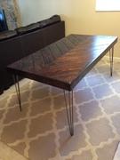 Chevron Dining Room Table