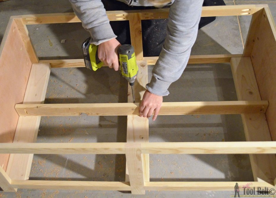 crate table attach center divider