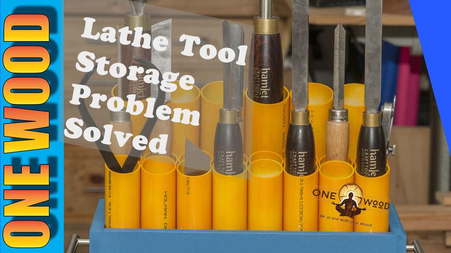 Wood Lathe Tool Storage