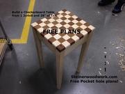 2x4 Checkerboard table