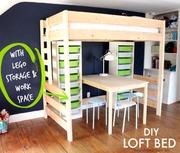 loft bed with lego storage