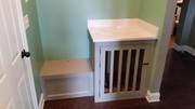 Dog Kennel and Bench built in