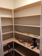 Custom Pantry Shevles and supports