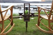DIY Outdoor Wine Caddy Plans