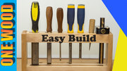 Beginners Project Chisel Rack with YouTube video
