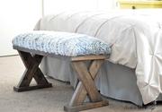 DIY Upholstered 2x4 X-bench