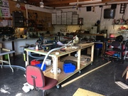 Mobile woodwork bench