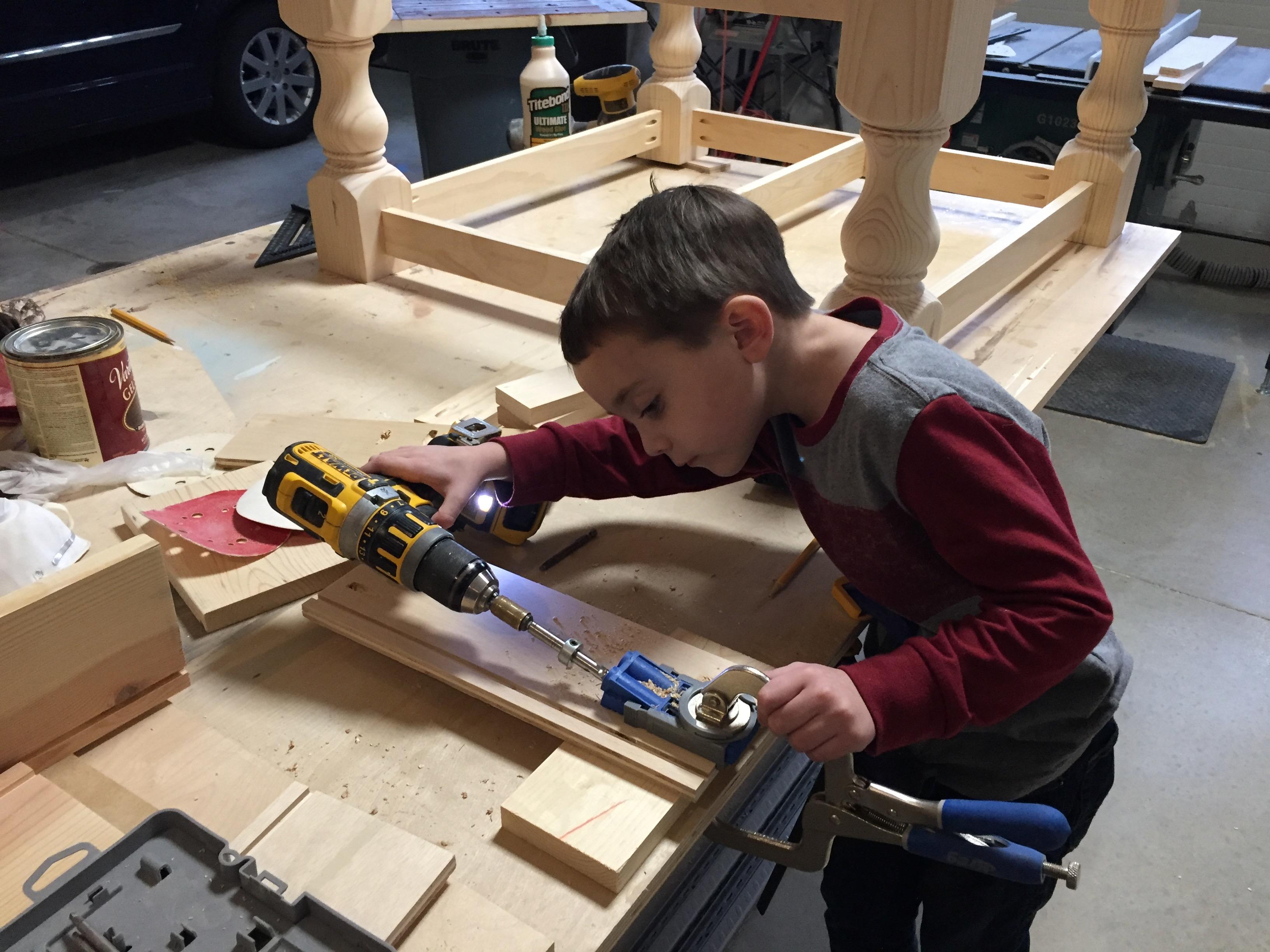 5 Year old son using a Kreg Jig R3