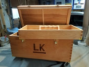 Lou's shooting box, opened
