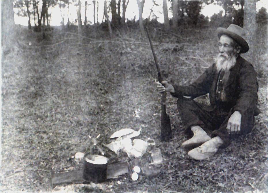 Andre Jerome with his rifle