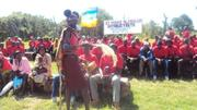Youth mobilized by pastors to attend a sports event. The same group as posted by Jackson Ewat Ekadeli, Kenya