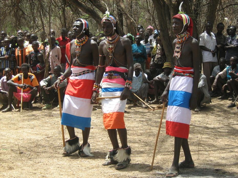 Theatre group made up of reformed youth in Samburu in North Rift Kenya