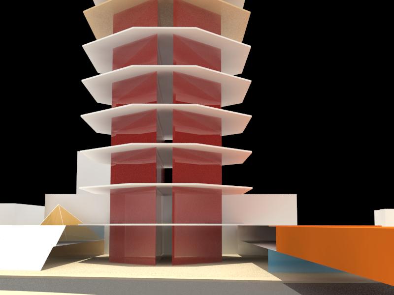 Conceptual Abstract Mass Bldg 3
