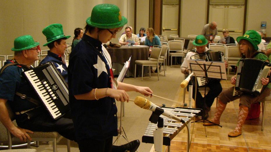 MECCA accordion band at NAA trade show Dallas, Texas 2012