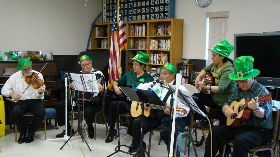 St. Patrick's Day party at Gilmore Center 2012
