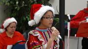 Sabrina Salvador singing Jingle Bells
