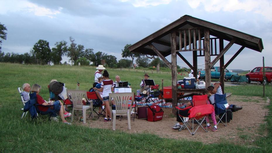 MECATX overnight campout jam session