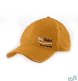 idb bank orange baseball cap