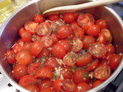 Making fresh tomato sauce from scratch