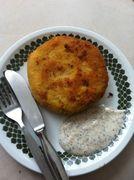 Potato Cakes with a lamb mince of veg stuffing