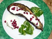 Baked aubergine with a buttermilk sauce