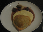 Pithivier, celeriac puree, caramelised shallots & chestnuts