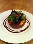 Vegetarian Spinach, Caramelised Onion and Goats Cheese Tart
