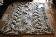 knitted woolen blanket XXL sheep belokranjska pramenka