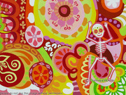 Day of the Dead painting (close-up) - La Fiesta