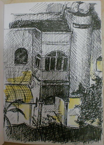 Night Sketch of Neighbours' house