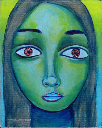 Blue-Green Portrait