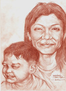 photo study of my wife and grandson001